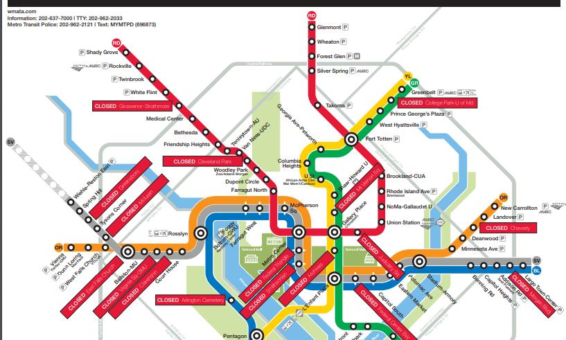 DC Covid Metro Map